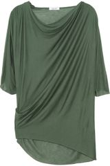 Helmut Lang Asymmetric Draped Jersey Top - Lyst