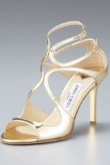 Jimmy Choo Ivette Mirrored Crisscross Sandal - Lyst