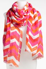 Juicy Couture Chevron Stripe Scarf - Lyst