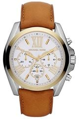 Michael by Michael Kors Michael Kors Bradshaw Leather Strap Watch - Lyst