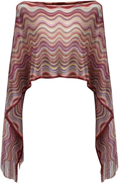 Missoni Cowl Neck Scarf in Blue - Lyst