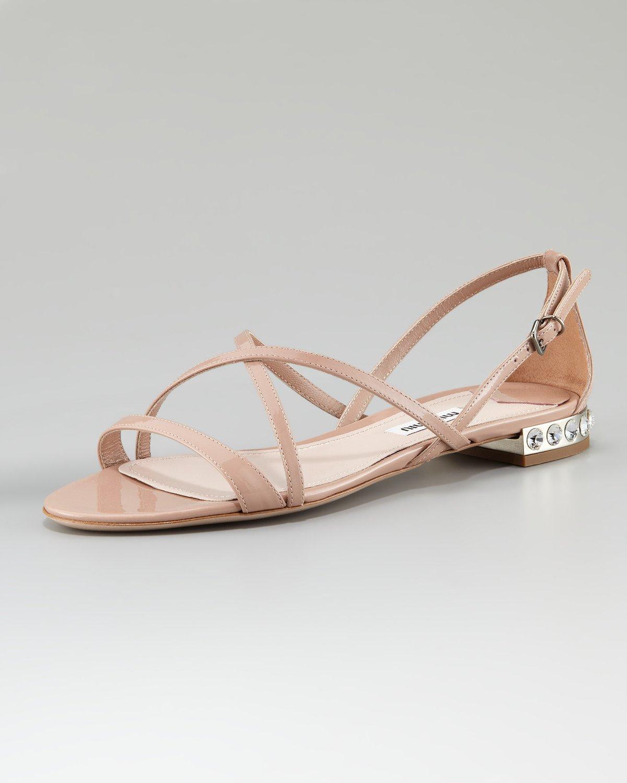 Miu Miu Flat strappy sandals c1UfiCfzF