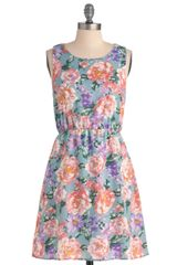 ModCloth Strolling On Sunday Dress in Sky - Lyst