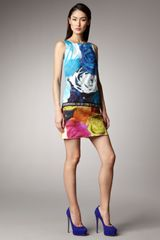 Peter Som Rose-print Shift Dress - Lyst