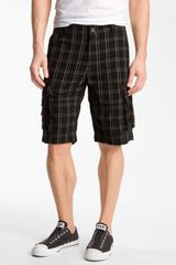 Public Opinion Plaid Cargo Shorts - Lyst