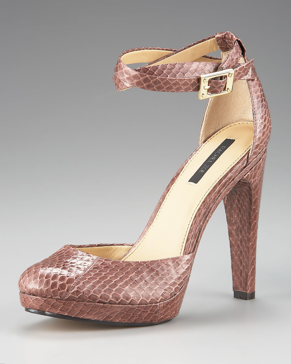 pay with paypal online buy cheap newest Rachel Zoe Snakeskin Ankle-Strap Sandals oPDV7Z8