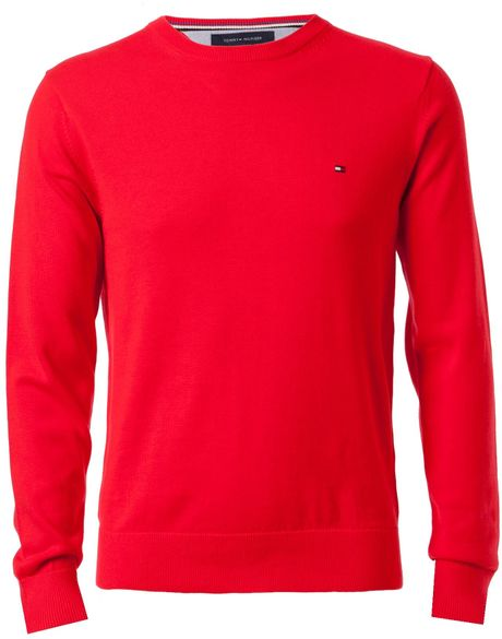 Tommy Hilfiger Pacific Crew Neck Jumper in Red for Men - Lyst