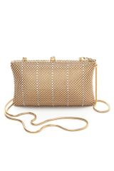 Whiting & Davis Crystal Classics Dimple Mesh Clutch - Lyst