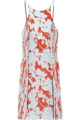 3.1 Phillip Lim Floral-print Silk Crepe Dress - Lyst