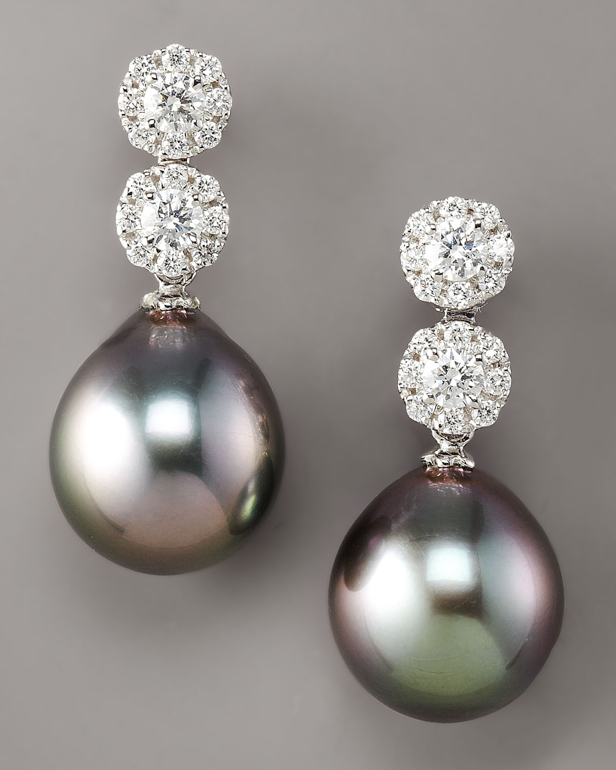 earrings detachable amp white cluster pearl image gemstone jewellery diamond aminoff matt gold pearls