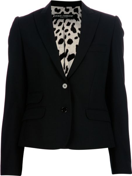 Dolce & Gabbana Cropped Blazer in Black - Lyst