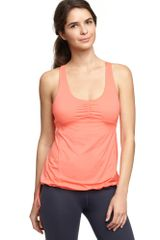 Gap Gapfit Drawstring Tank in Orange (neon orange light) - Lyst