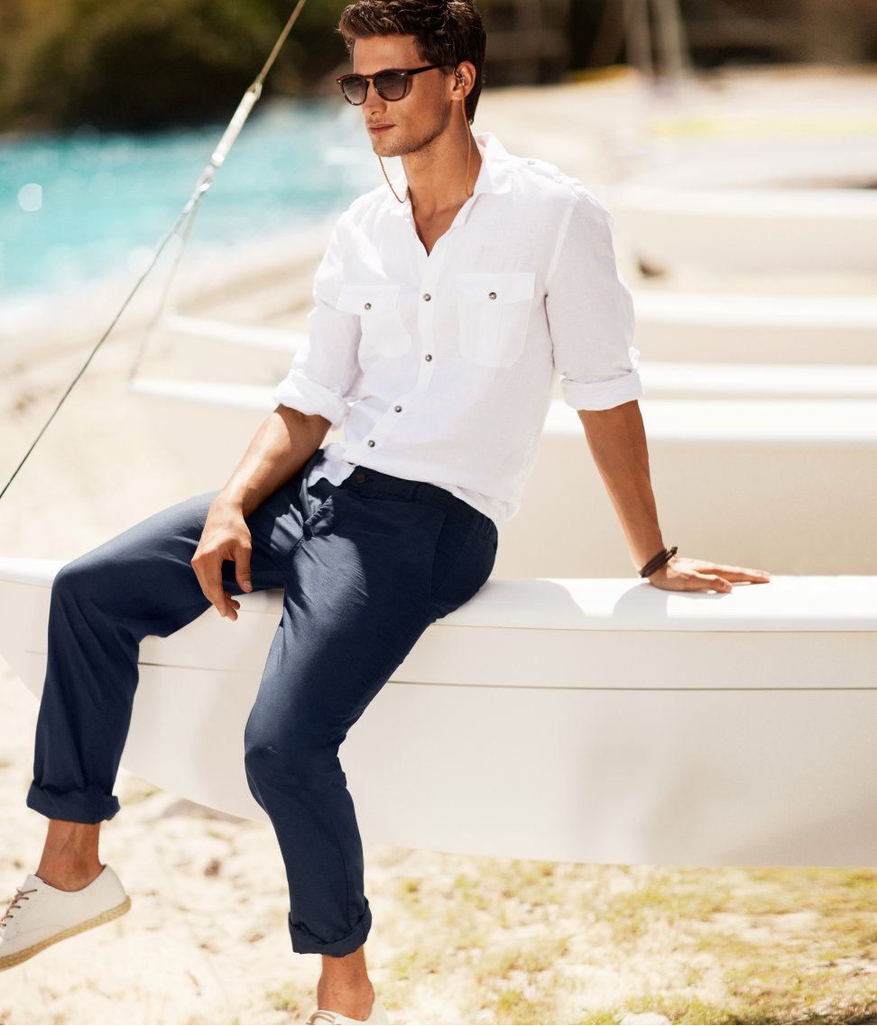 H&M Chinos In Blue For Men