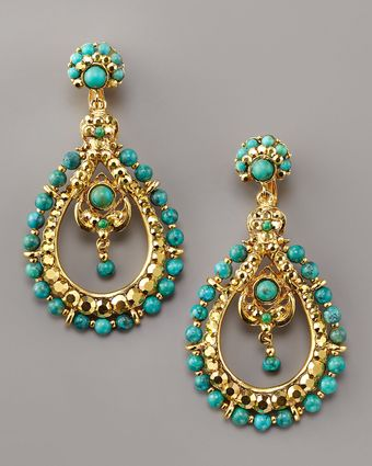Jose & Maria Barrera Turquoise Teardrop Earrings - Lyst