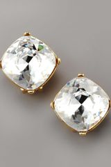 Kenneth Jay Lane Crystal Stud Clip Earrings - Lyst