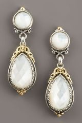 Konstantino Motherofpearl Dangle Earrings in White (pearl) - Lyst