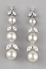 Majorica Pearl Cubic Zirconia Drop Earrings - Lyst