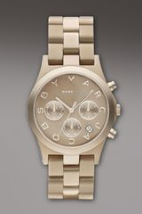 Marc By Marc Jacobs Henry Golden Aluminum Watch - Lyst