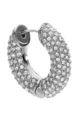 Michael Kors Pave Huggie Hoop Earrings Silver Color - Lyst