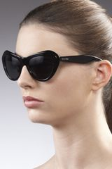 Miu Miu Vintage Cat Eye Matte Sunglasses  - Lyst