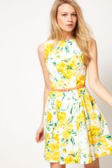Oasis Oasis Vintage Rose Dress - Lyst