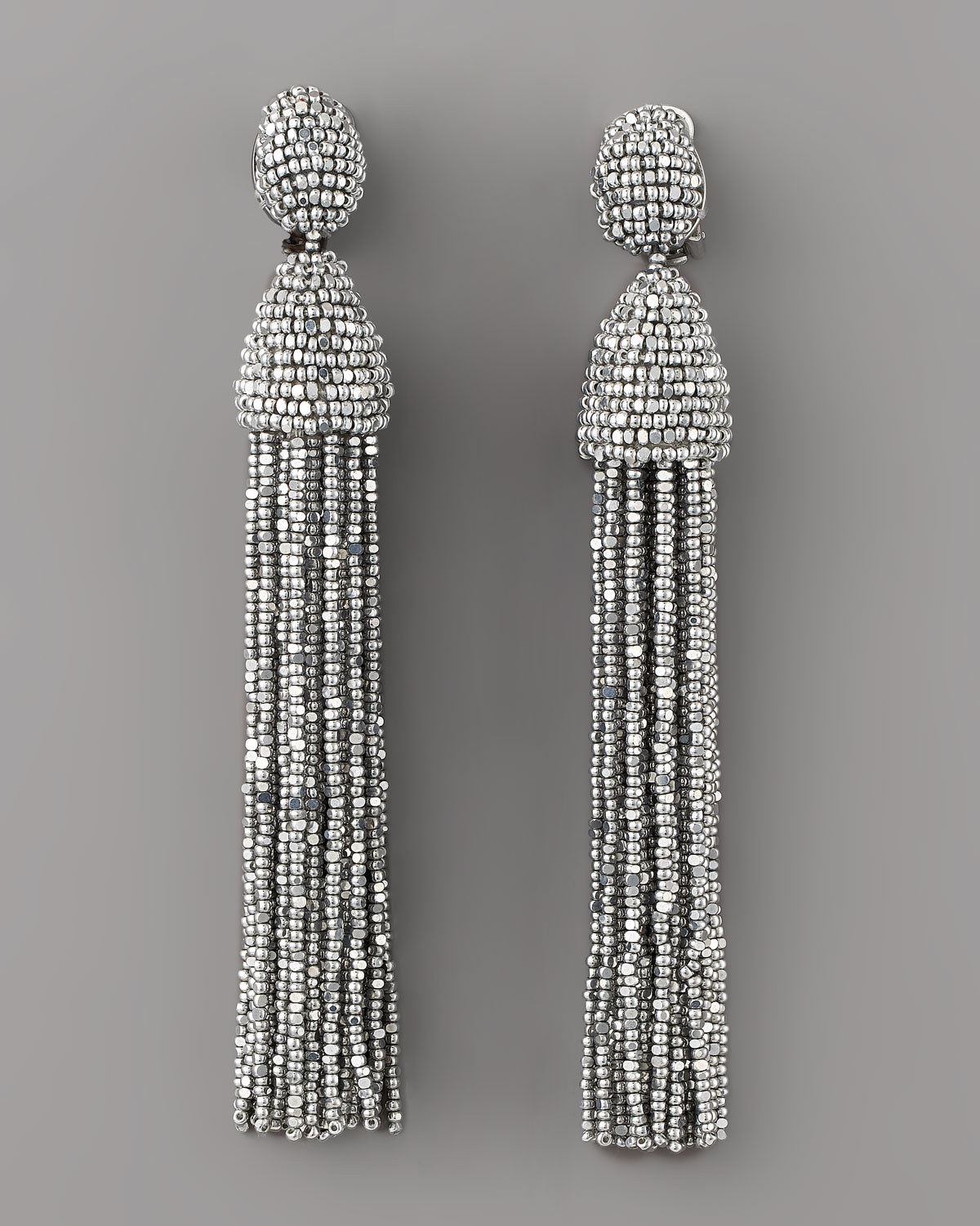 beaded earrings - Metallic Oscar De La Renta PWc3NjD