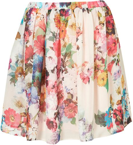 Topshop Blossom Skirt in Multicolor (multi)