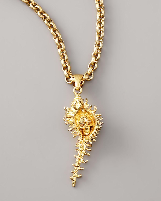 Key charm gold-tone necklace Alexander McQueen aZCtY