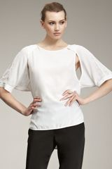 Alexander Wang Raglan Cut Out Shirt - Lyst