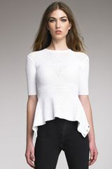 Alexander Wang Open-back Mesh Top - Lyst