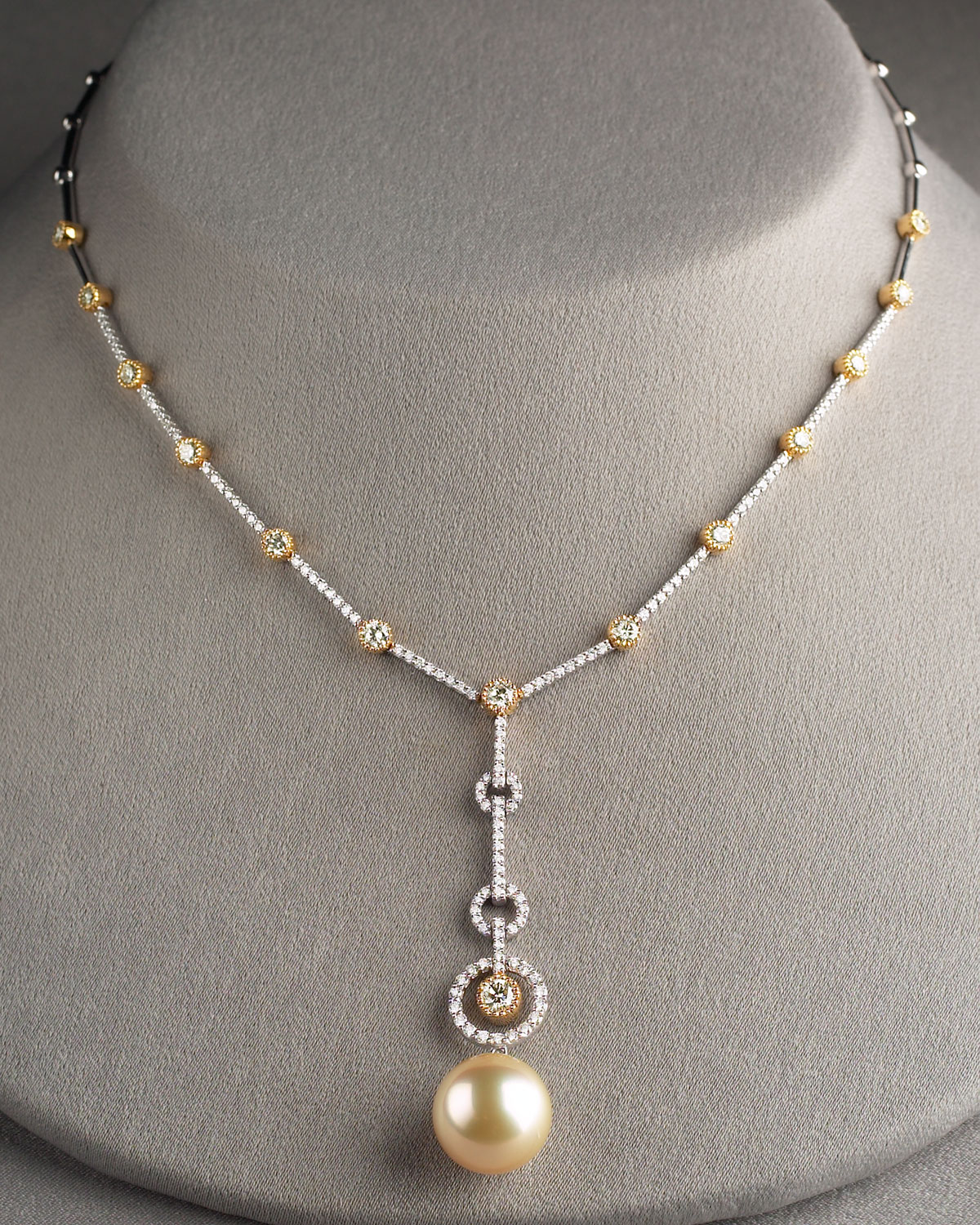 yellow anne of r pearl mother products necklace diamond sisteron gold