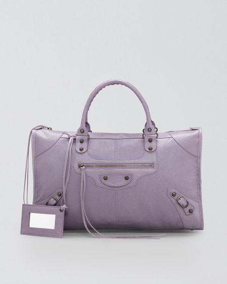 Balenciaga Classic Work Bag in Purple (glycine) - Lyst