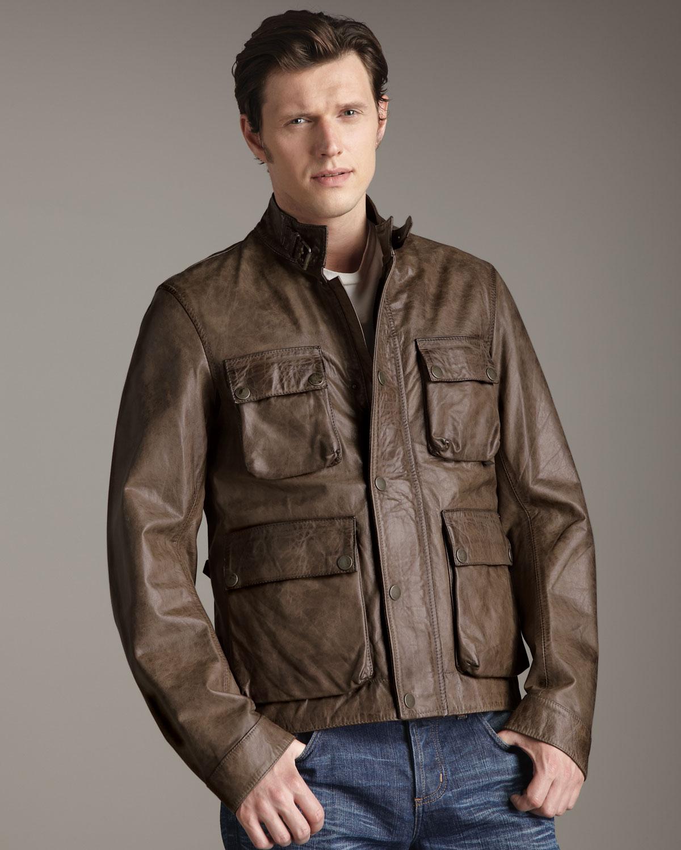 Belstaff Leather Jacket Brown