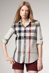 Burberry Brit Check Button-up Shirt - Lyst