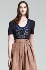 Burberry Prorsum Beaded Jersey Tee