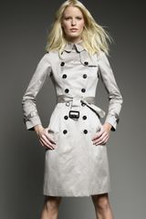 Burberry Prorsum Sateen Trench Coat, Trench - Lyst