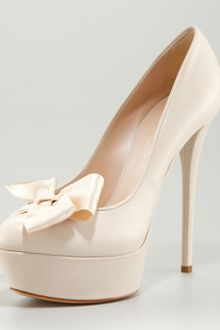Casadei Bow-detailed Platform Pump - Lyst