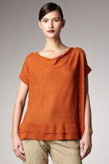 Donna Karan New York Paper Cowl-neck Top - Lyst