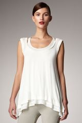 Donna Karan New York Layered Jersey Tank - Lyst
