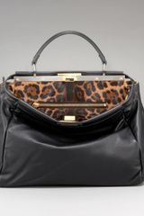 Fendi Leopardprint Calf Hair Peekaboo Bag - Lyst