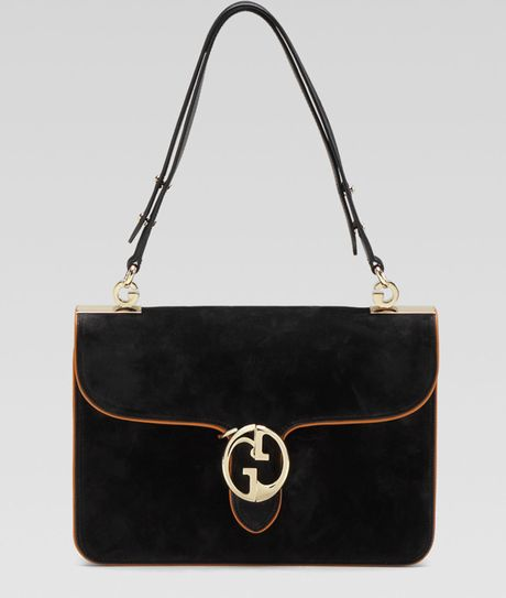 Gucci Medium Shoulder Flap Bag in Black (black paprika) - Lyst
