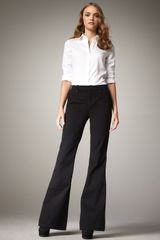J Brand Stella Flared Trousers, Black - Lyst