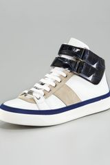 Jimmy Choo Hi-top Sneaker - Lyst