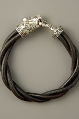 John Hardy Macan Twisted Leather Bracelet - Lyst