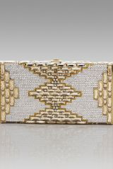 Judith Leiber Streamline Patterned Clutch - Lyst