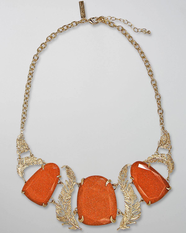 kendra scott goldstone iggy necklace in metallic lyst
