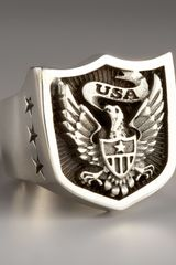 King Baby Studio Eagle Shield Ring - Lyst