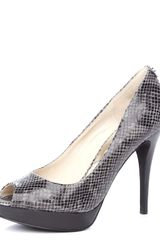 Michael by Michael Kors York Python-Embossed Platform Pump - Lyst
