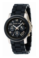 Michael Kors Midsized Pu Chronograph Watch - Lyst