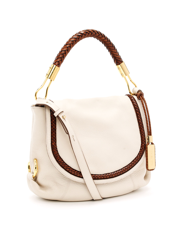 6a64bcea31ac ... aliexpress michael kors skorpios small shoulder flap bag ecru in white  lyst 592dd a54f0